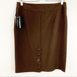 A. Byer brown business career pencil skirt